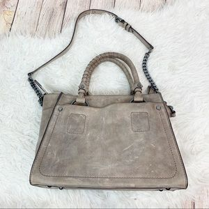 FRYE Leather Taupe Demi Satchel Strap Purse Boho